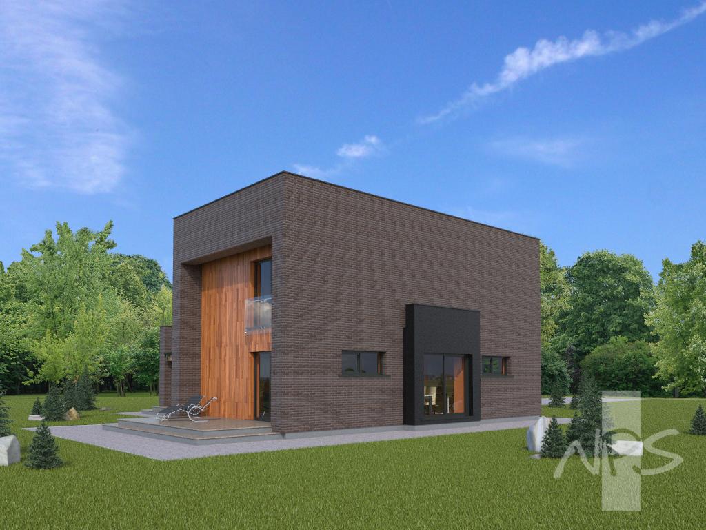 Diese modernen Hausprojekte haben identische Pläne, aber eine ...
